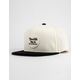 BRIXTON Wheeler Black & White Mens Strapback Hat