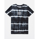 HUF Marka Lightning Wash Black Mens T-Shirt