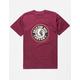 BRIXTON Rival Burgundy Mens T-Shirt