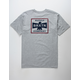 BRIXTON Martial Heather Gray Mens T-Shirt