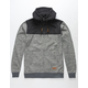QUIKSILVER Keller Block Dark Gray Heather Mens Zip Hoodie