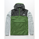 THE NORTH FACE Fanorak Green & Gray Mens Windbreaker Jacket