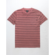 O'NEILL Dinsmore Burgundy Mens Pocket Tee