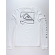 QUIKSILVER Distortion White Mens T-Shirt
