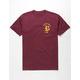 BRIXTON Rawson Burgundy Mens T-Shirt