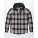 LIRA Hobbs Mens Hooded Flannel Shirt
