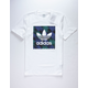 ADIDAS Towning BB Logo White Mens T-Shirt