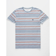 QUIKSILVER Trash Brats Blue Stripe Mens T-Shirt