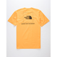 THE NORTH FACE Red Box Heavyweight Gold Mens T-Shirt