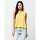 RVCA Happy Place Mustard Womens Muscle Tank Top
