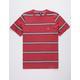 VOLCOM Beauville Burgundy Mens T-Shirt