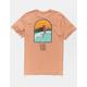 RIP CURL Dead Sled Peach Mens T-Shirt