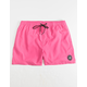 QUIKSILVER Everyday Carmine Rose Mens Volley Shorts