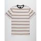 RVCA Avila Stripe Antique White Mens T-Shirt