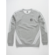 ADIDAS Insley Core Heather & White Mens Sweatshirt