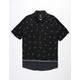 RVCA Lux Paisley Black Mens Shirt