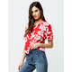 VOLCOM Aloha Ha Red Womens Crop Top