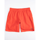 THE NORTH FACE Class V Pull-On Red Mens Swim Trunks