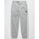 ADIDAS Insley Medium Gray Heather & White Mens Sweatpants