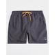 LIRA Court Charcoal Mens Volley Shorts