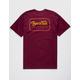 BRIXTON Grade Burgundy Mens T-Shirt