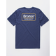 BRIXTON Palmer Navy Mens T-Shirt