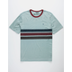 BRIXTON Shield Light Blue Mens T-Shirt