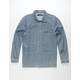 ELWOOD Indigo Pinstripe Mens Denim Chore Jacket