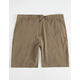 VALOR Pigment Dyed Dark Khaki Mens Hybrid Shorts