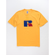 RUSSELL ATHLETIC Jerry Flock Gold Mens T-Shirt