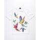 LRG Exotics White Mens Polo Shirt