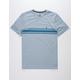 VOLCOM Land Lines Light Blue Mens T-Shirt