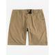 NITROUS BLACK Bronson Dark Khaki Mens Hybrid Shorts