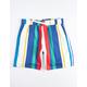 UNCLE RALPH Twill Stripe White Mens Shorts