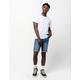 RSQ London Skinny Medium Indigo Mens Denim Shorts