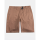 BLUE CROWN Classic Brown Mens Chino Shorts