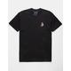 RIOT SOCIETY Koi Embroidery Black Mens T-Shirt