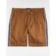 VALOR Steward Side Stripe Dark Khaki Mens Chino Shorts