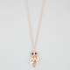 FULL TILT Moving Beaded Owl Necklace