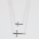 FULL TILT 2 Row Side Cross Necklace