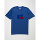 RUSSELL ATHLETIC Jerry Flock Royal Mens T-Shirt