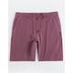 VALOR Pigment Dyed Burgundy Mens Hybrid Shorts