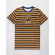 NEON RIOT Felix Wink Navy Stripe Mens T-Shirt