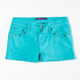 VIGOSS Pyramid Stud Girls Cutoff Denim Shorts