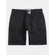 CHARLES AND A HALF Lincoln Stretch Black Mens Shorts