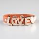 FULL TILT Love Faux Leather Snap Bracelet