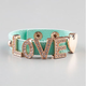 FULL TILT Love Faux Leather Snap Bracelet