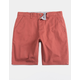 CHARLES AND A HALF Lincoln Stretch Rust Mens Shorts