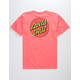 SANTA CRUZ Classic Dot Chest Coral Mens T-Shirt