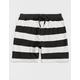 CYA Denver Stripe Black & White Mens Sweat Shorts